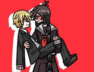 yeah but imagine short togami and tall fukawa by clock-stopper