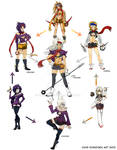 Hexafusion Chart Commission -Action Girls Edition-