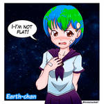 Earth-chan is not flat!