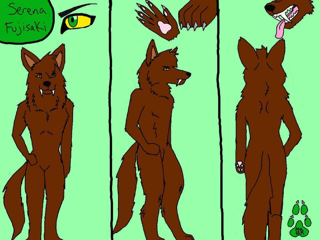 Serena Fujisaki - Anthro Form Reference Sheet by bree121149