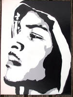 T.I Stenciled Canvas by CRONENZ