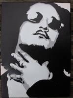 Bizzy Bone Stencled Canvas by CRONENZ