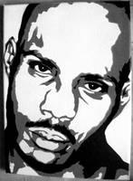 DMX Stenciled Canvas by CRONENZ