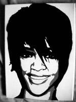 Rihanna Stenciled Canvas by CRONENZ