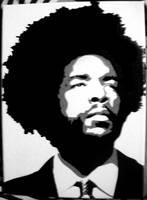 QuestLove Stenciled Canvas by CRONENZ