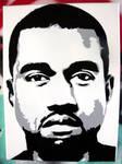 Kanye West stencil canvas
