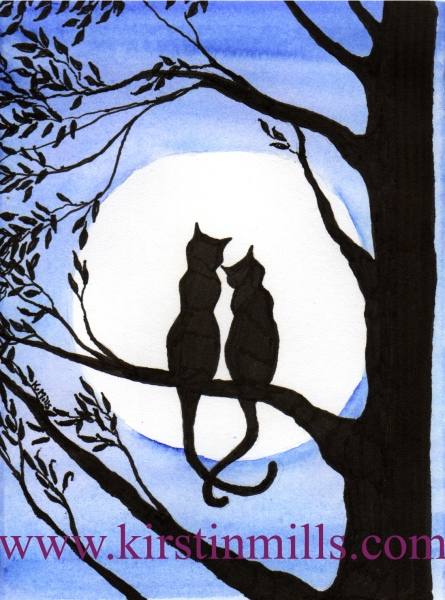 Two Black Cats by kirstinmills