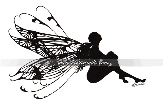 fairy images silhouette side view