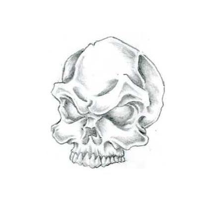 Bonehead by hydrauliceye on deviantart for Bone head tattoo