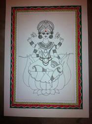 Goddess Lakshmi, the Goddess of wealth and food by sbasudas