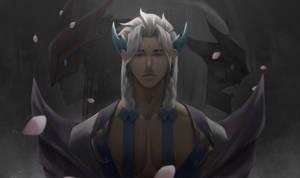 Spirit Blossom Yone - League of Legends Fan Art