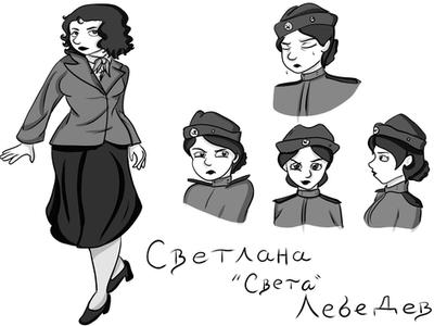Character Reference sheet - Sveta Lebedev by VikaLynnDraws