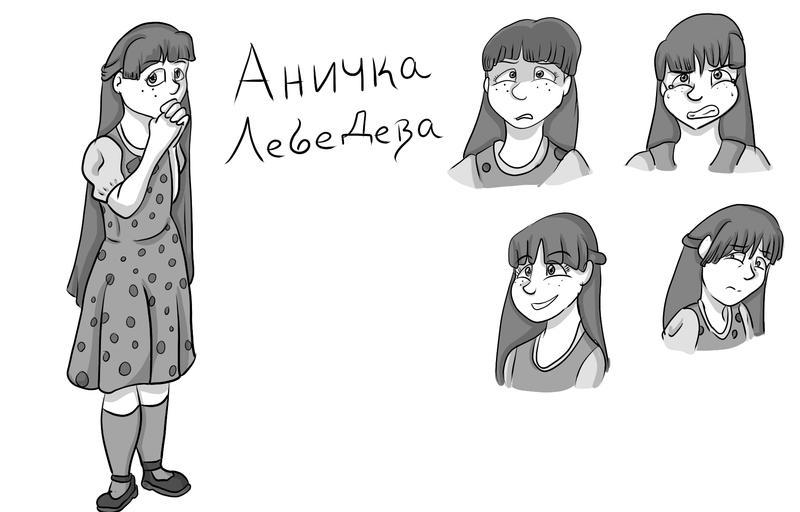 Character Reference sheet - Anichka Lebedeva by VikaLynnDraws