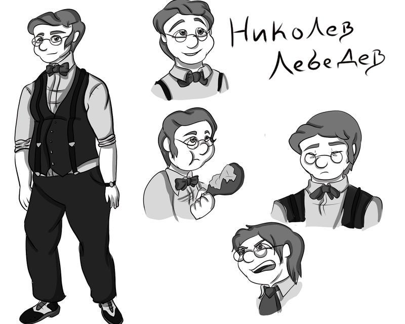 Character Reference sheet - Nikolev Lebedev by VikaLynnDraws