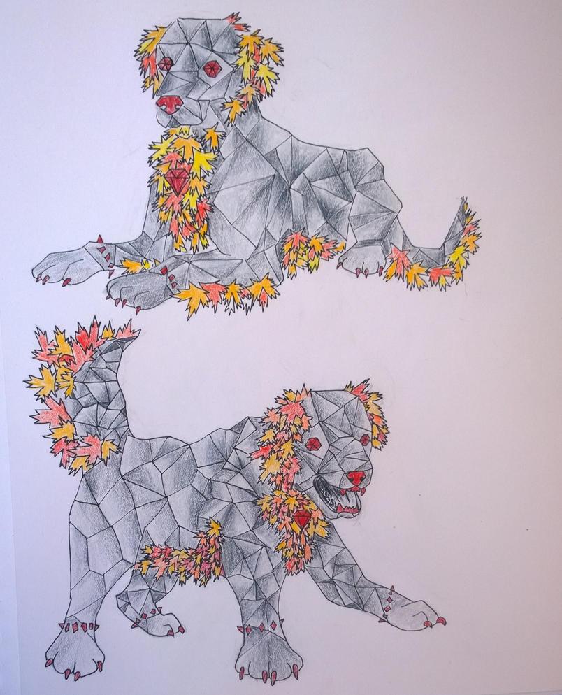 Magistream Creature Contest: Golemhound by lifanonline