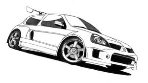 NFS MostWanted Clio V6 gray