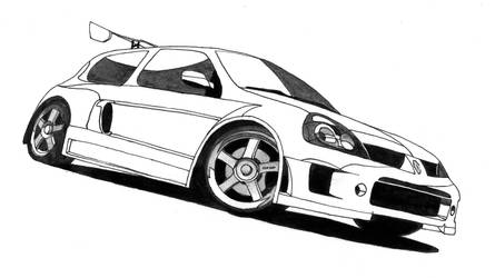 NFS MostWanted Clio V6 gray by Samantha-dragon