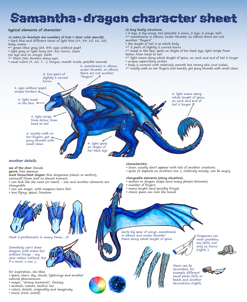 Samantha char sheet by Samantha-dragon