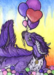 ACEO/ATC: With Balloons