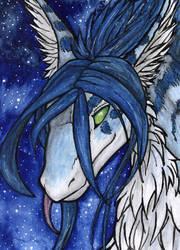 ACEO/ATC: Midnight Blue by Samantha-dragon