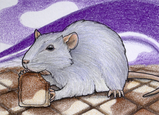 ACEO/ATC: Happy Rat