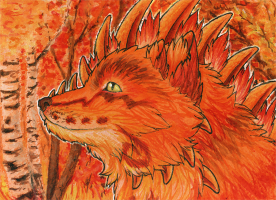 ACEO/ATC: Fiery Autumn