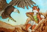 ACEO/ATC: Kirsch with Eagle