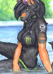 ACEO/ATC: Monster girl by Samantha-dragon