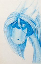 Samantha made with one color pencil by Samantha-dragon