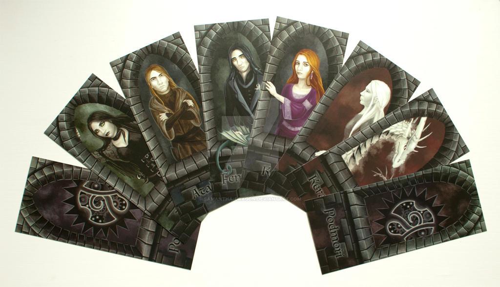 Commission: Prints of bookmarks for Katanga (II.)