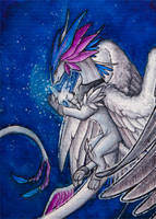 ACEO/ATC: Glowing friend by Samantha-dragon
