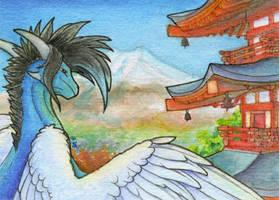 ACEO/ATC: Mount Fuji by Samantha-dragon