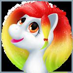 Gift: Rainbow Feather by Samantha-dragon