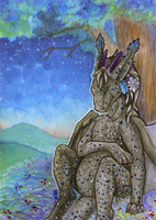 ACEO/ATC: The Birth of the Star by Samantha-dragon