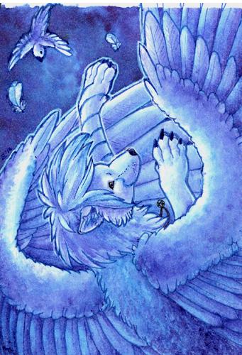 ACEO/ATC: Falling by Samantha-dragon