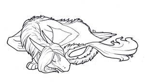 InkTober - No. 24: Sleepy by Samantha-dragon