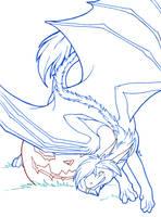 InkTober - No. 27: Creepy? by Samantha-dragon