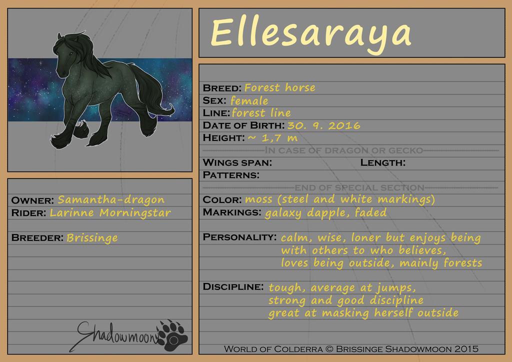 WoC: Mount ID: Ellesaraya
