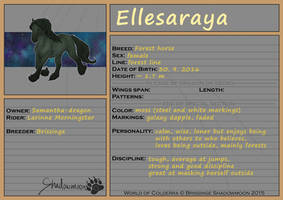 WoC: Mount ID: Ellesaraya by Samantha-dragon