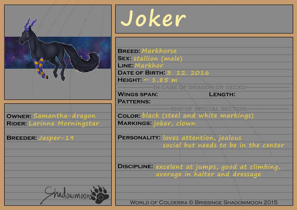 WoC: Mount ID: Joker