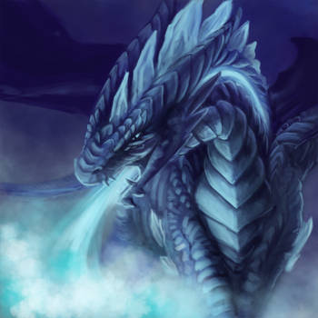 ArtTrade: Bluerrion by Samantha-dragon