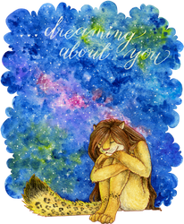 Gift: Dreaming about you by Samantha-dragon