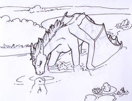 Orion swimming mini-story II. by Samantha-dragon