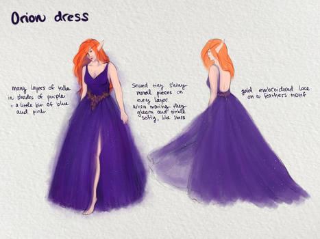 Quest: Concept of Orion dress