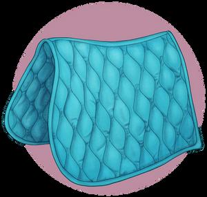 Crafted: Aqua saddlecloth