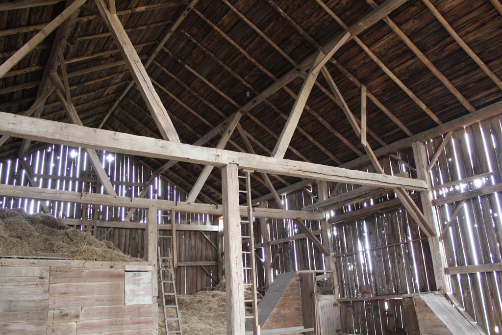 inside an old wooden barn by AshAcre ...