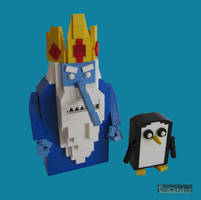 LEGO Ice King and Gunter by Bricknave