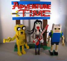 LEGO Adventure Time Jake, Marceline and Finn by Bricknave