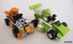 Microkarts: Orange vs Lime by Bricknave