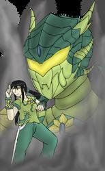 The Girl with the Dragon Armor by BigBadShadowMan